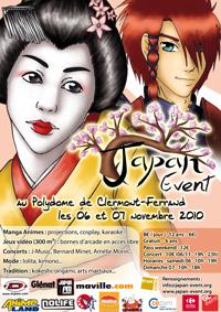 [salon] Japan Event... à Clermont-Ferrand !!! Affiche